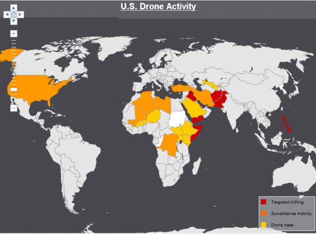 US Drone activity