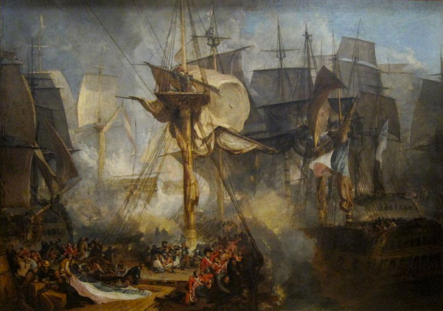 Battle of Trafalgar, Turner, c1806