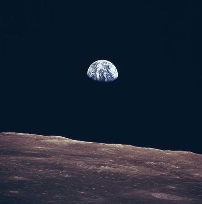 Earth, as seen from Apollo 11, 1969