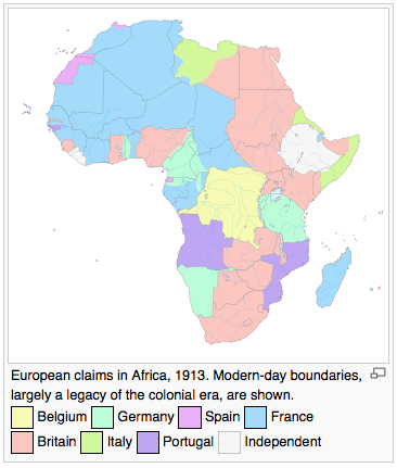 Colonial Africa 1913