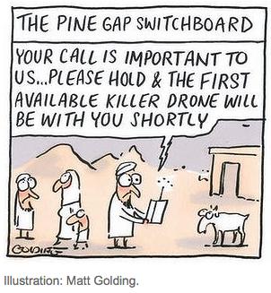 Pine Gap cartoon