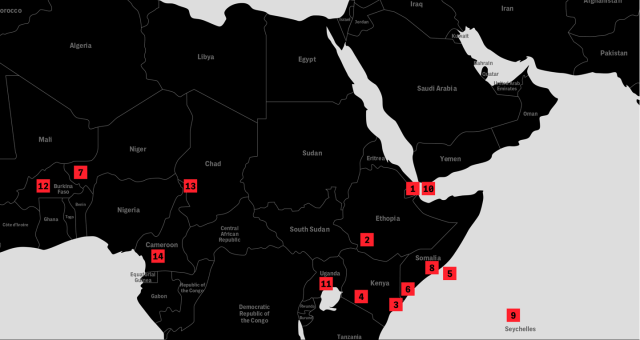 Map of U.S. Drone Bases in Africa 1